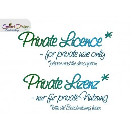 Private Lizenz - 3x ITH Silhouette Reissverschluss Taschen 13x18 cm