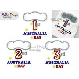 1st 2nd 3rd Australia Day Koala Applikation 13x18 cm Stickdatei