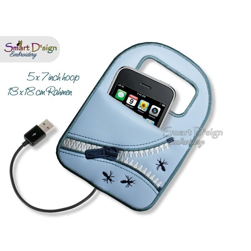 ITH Handyladehilfe Tasche 13x18 cm Stickdatei