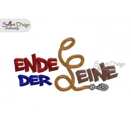 ENDE DER LEINE 5x7 inch Machine Embroidery Design