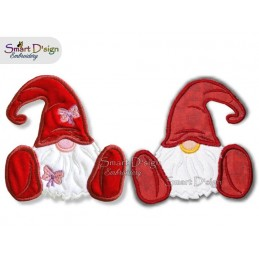 Scandinavian Gnomes Applique Machine Embroidery Design