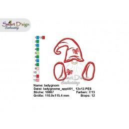Scandinavian Gnomes Applique Machine Embroidery Design