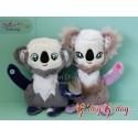 ITH Stuffie Soft Toy KOALA Girl & Boy 5x7 inch Machine Embroidery Design