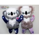 ITH Stuffie Soft Toy KOALA Girl & Boy 5x7 inch Machine Embroidery Design