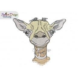 GIRAFFE 4x4 inch Machine Embroidery Design
