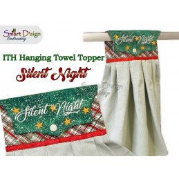 Set of 4 Christmas ITH Hanging Towel Topper 3 sizes available Machine Embroidery Design