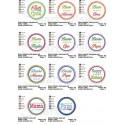 11 Honour Badges Appliques 4x4 inch