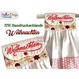 WEIHNACHTEN - 1x Weihnachts ITH Hängeschlaufe für Geschirrtücher, 4 Größen verfügbar Stickdatei