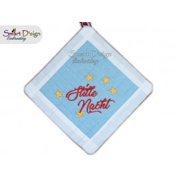 STILLE NACHT - Christmas 1x ITH Patchwork Potholder 3 sizes available Machine Embroidery Design