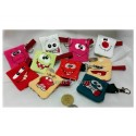 13 ITH Coin Bags Funny Faces 4x4 inch
