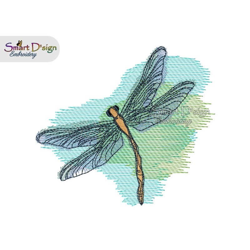 Dragonfly 3 sizes available Machine Embroidery Design