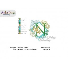 Zauberhaftes Blumen-ABC mit Quadratrahmen - Bitte Motiv wählen