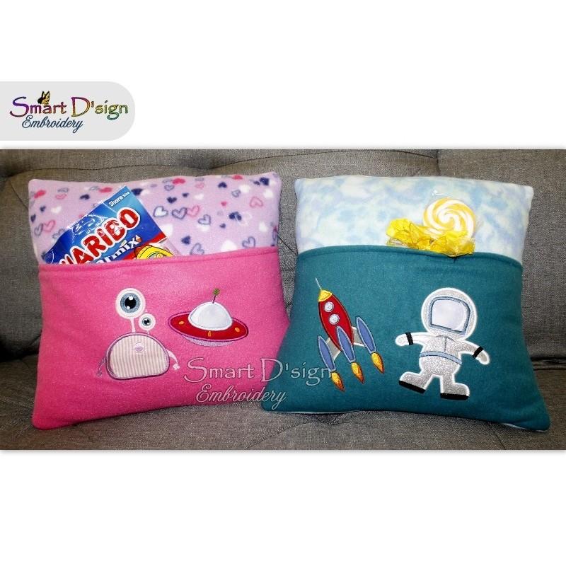 5x Space Adventure 5x7 inch Applique Machine Embroidery Design
