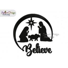 BELIEVE Weihnachten Christi Geburt 13x18 cm Stickdatei