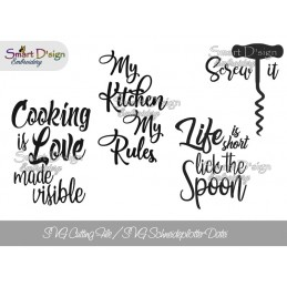 4x Kitchen Sayings SVG Plotter Cutting File
