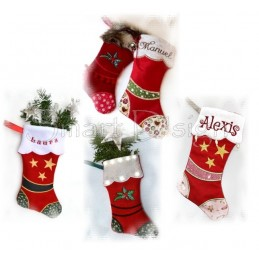 9 Santa Stockings ITH 8x14.2 inch