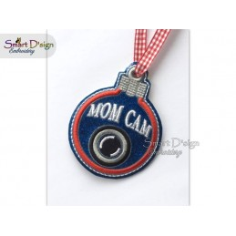 ITH MOM CAM Christmas Bauble Ornament 4x4 inch Machine Embroidery Design