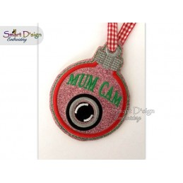 ITH MUM CAM Christmas Bauble Ornament 4x4 inch Machine Embroidery Design