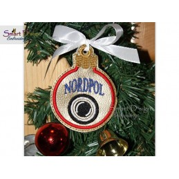 ITH NORDPOL CAM Christmas Bauble Ornament 4x4 inch Machine Embroidery Design