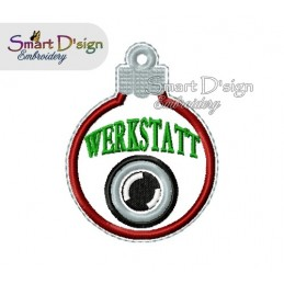 ITH WERKSTATT CAM Christmas Bauble Ornament 4x4 inch Machine Embroidery Design