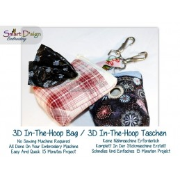 3D Ruck-Zuck Raumwunder ITH Kotbeutel Doggy Tasche 10x10 cm Stickdatei