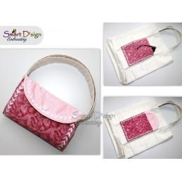PFEILE Ann's Markttasche mit ITH Täschchen - Stickdatei - Bitte Größe wählen