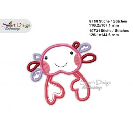 Baby CRAB 2 Sizes Applique Machine Embroidery Design
