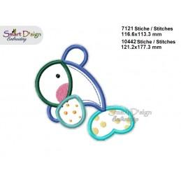 Baby DELFIN Applikation 2 Größen Stickdatei
