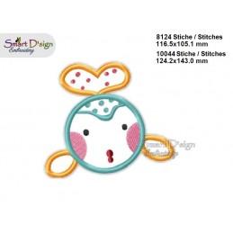 Baby FISH 2 Sizes Applique Machine Embroidery Design