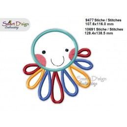 Baby JELLYFISH 2 Sizes Applique Machine Embroidery Design