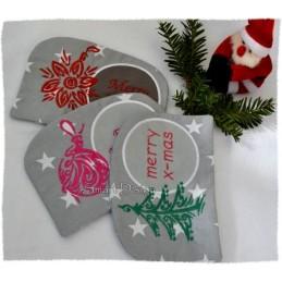 20 ITH Weihnachts-MugRugs 13x18 cm
