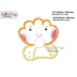 Baby SHELL 2 Sizes Applique Machine Embroidery Design