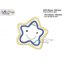 Baby STARFISH 2 Sizes Applique Machine Embroidery Design