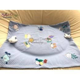 Baby TURTLE 2 Sizes Applique Machine Embroidery Design
