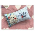 BLANK Valentine Teddy Hearts ITH Machine Embroidery Design