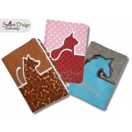 EU Pet Passport Cover - Chose your design - Dog, Cat or Horse 6x10 inch hoop