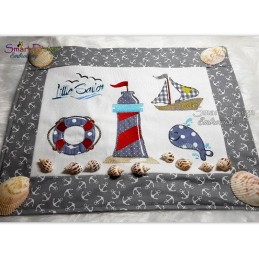 Little Sailor 8 Motifs 5x7 inch Applique Set Machine Embroidery Designs