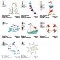 Little Sailor 8 Motifs 5x7 inch Applique Set Machine Embroidery Designs