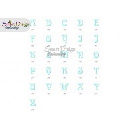 Arnolds World Komplettes Alphabet mit Nummern und Zeichen Stickdatei