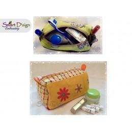 ITH Platzwunder Kosmetiktasche mit RV und 3 Außentaschen - Stickdatei
