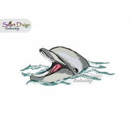 Dolphin 5x7 inch Machine Embroidery Design