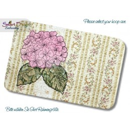 ITH Quilt MugRug with Raw Applique Hydrangea Machine Embroidery Design