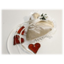 ITH Wedding Ring Cushion 5x5 inch