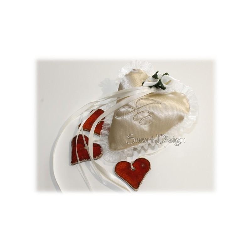 ITH Ringkissen Hochzeit 13x13 cm