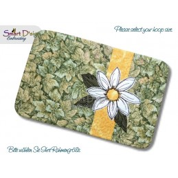 ITH Quilt MugRug with Raw Applique Daisy Machine Embroidery Design