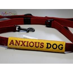 ANXIOUS DOG - ITH Leinen Sicherheits-Überzieher - Gelber Hund Projekt 13x18 cm Stickdatei