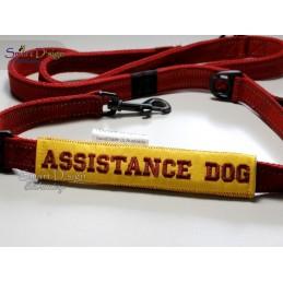 ASSISTANCE DOG - ITH Leinen Sicherheits-Überzieher - Gelber Hund Projekt 13x18 cm Stickdatei