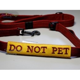 DO NOT PET - ITH Leash Safety Wrap Yellow Dog Ribbon 5x7 inch Machine Embroidery Design