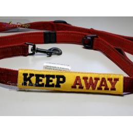 KEEP AWAY - ITH Leinen Sicherheits-Überzieher - Gelber Hund Projekt 13x18 cm Stickdatei