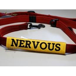 NERVOUS - ITH Leinen Sicherheits-Überzieher - Gelber Hund Projekt 13x18 cm Stickdatei